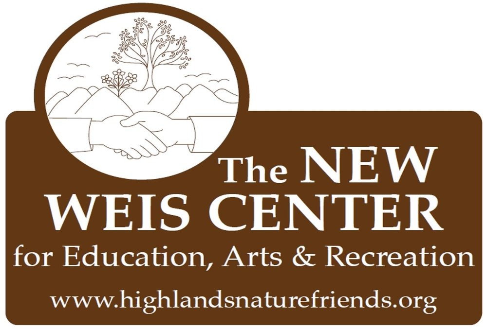 The Highlands Nature Friends, Inc., a 501(c)3 nonprofit, is the proud owner and operator of the former Weis Ecology Center in Ringwood, New Jersey! Located in the beautiful Highlands Region of northern NJ, we renamed this special place  The New Weis Center for Education, Arts & Recreation  to reflect our expanded mission.  With the help of our board and volunteers, and the support of our partners, sponsors and the surrounding communities, we continue to focus on restoring the main building for the multiple uses we have planned, improving the landscape of our 150+ acre property, and planning a variety of programs and events for all ages. It's an exciting time at Weis!    more information...     directions...