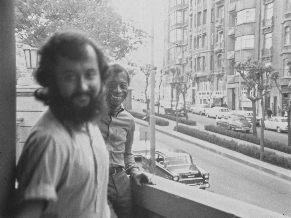 Sedat Pakay at James Baldwin's apartment while filming From Another Place, 1970.