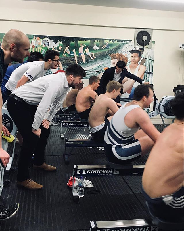 I get by with a little help from my friends . . . #YeahReading #WhiteandBlue #Rowing #Rudern #Remo #Crew #SquadGoals #BackYoSelf #PainCave #Motivation #Training #ThisisWhyWeRow