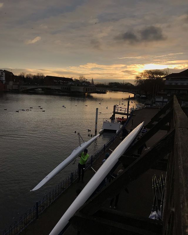 New Year, Same River . . . #YeahReading #Reading #Caversham  #Thames #Berkshire #Rowing #Crew #Aviron #Rudern #Sunrise #Morning #RiseAndGrind #Training #Motivation #Fitspo