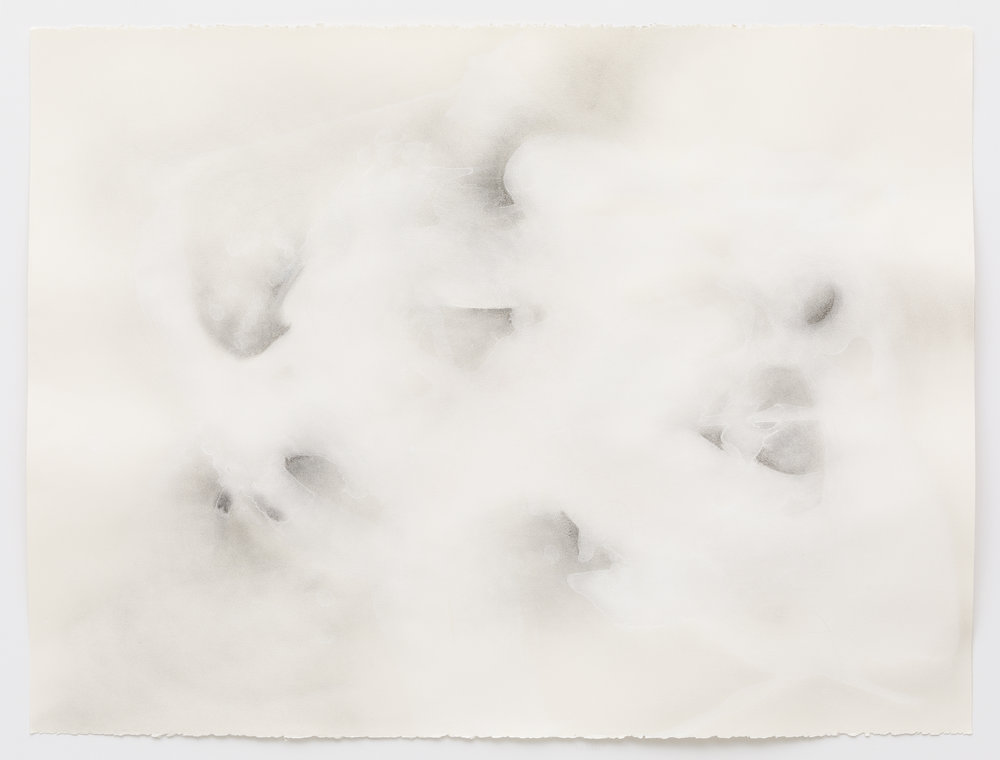 Cloud Bodies , 2018, gouache, graphite on paper; photo by Dan Kvitka