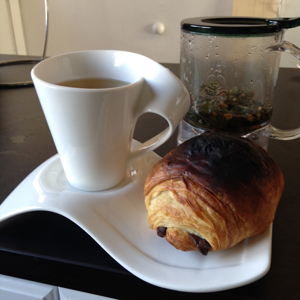#nofilter. Sadly, that black is the real color of my fresh, warm croissant.