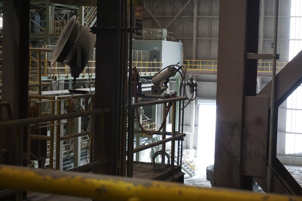 FLIR camera installed housed in industrial enclosure