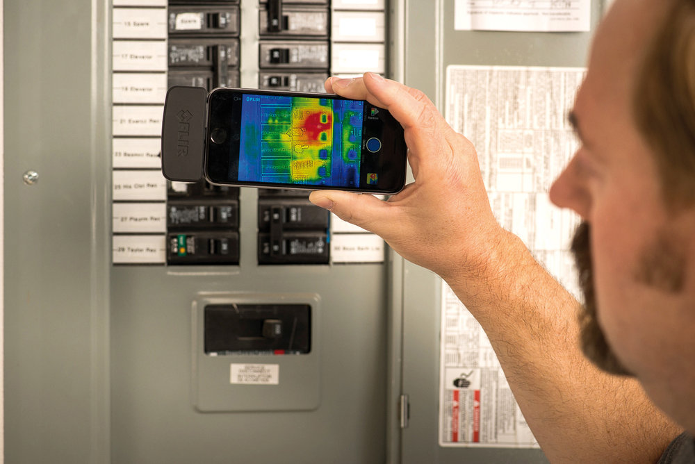 Use your phone to inspect for hot spots with the FLIR ONE Pro!