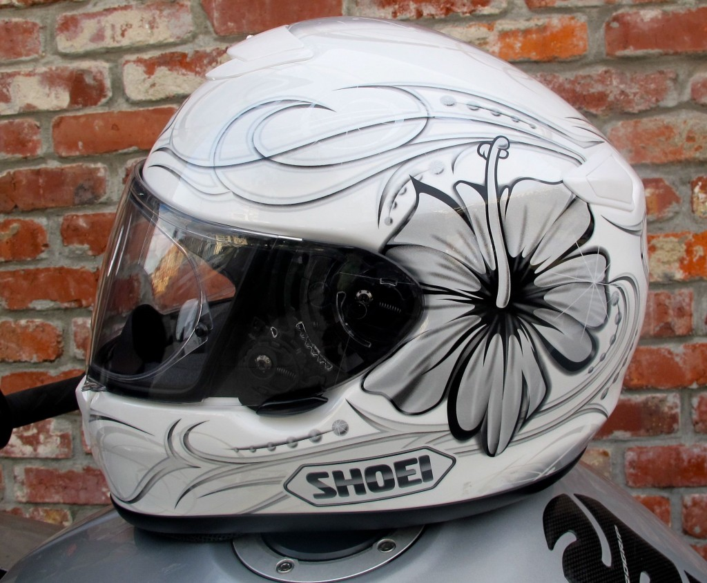 Shoei Qwest Goddess TC9 (White, Side)