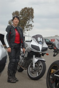 Me and my SV on my first track day back in 2011, sans mirrors and headlights.