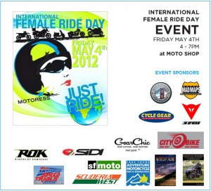 international female ride day san francisco party event 2012