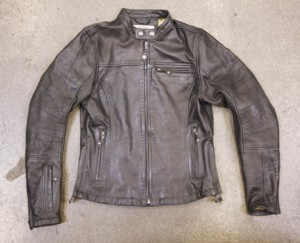 Maven Women's Roland Sands Leather Vintage Cafe Motorcycle Jacket