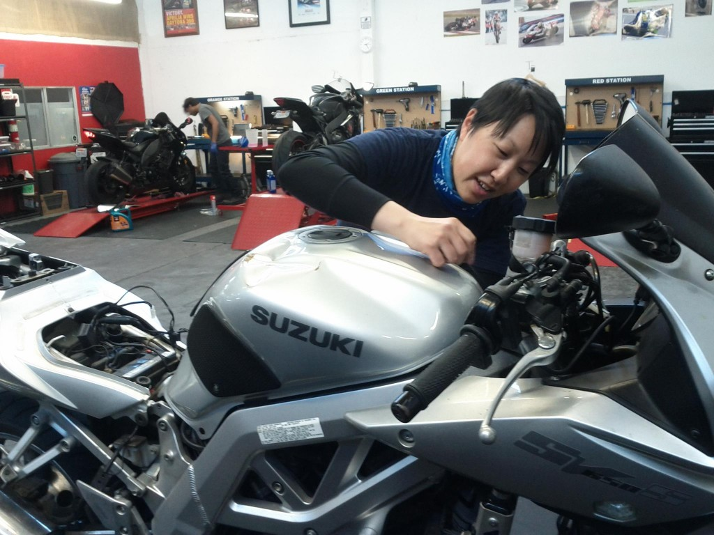 heated grips installation south san francisco bay area moto shop sv650