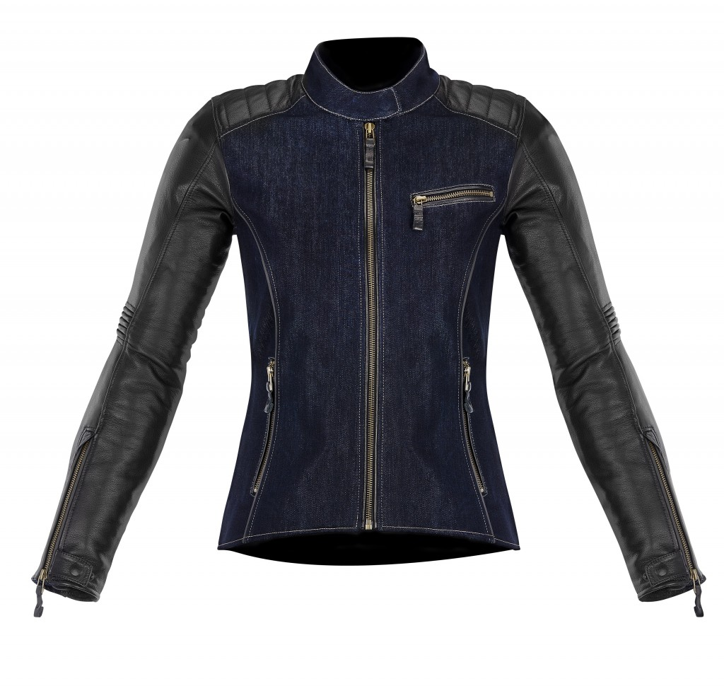 alpinestars renee denim black leather jacket