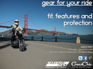 womens motorcycle gear seminar information how to shop fit features protection