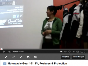 youtube motorcycle gear videos