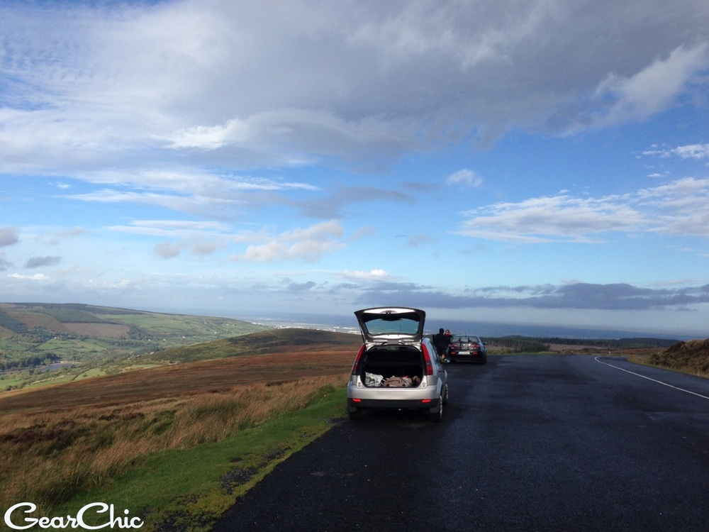 First road, the only dry part. Killakee Road towards Wicklow Mountains Nat'l Park