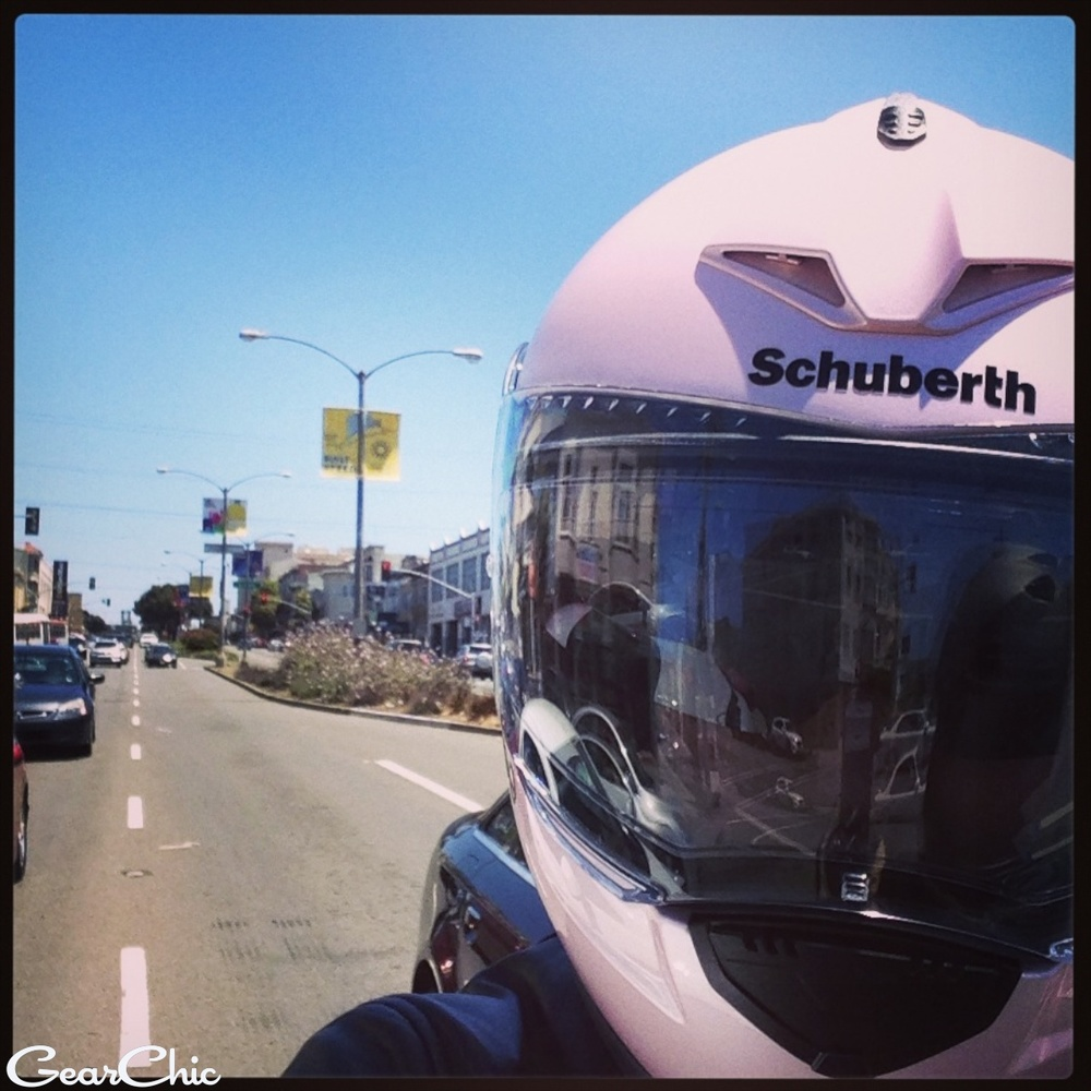 Riding down Geary Boulevard in San Francisco back in 2013