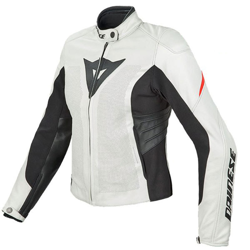 Womens white motorcycle jacket