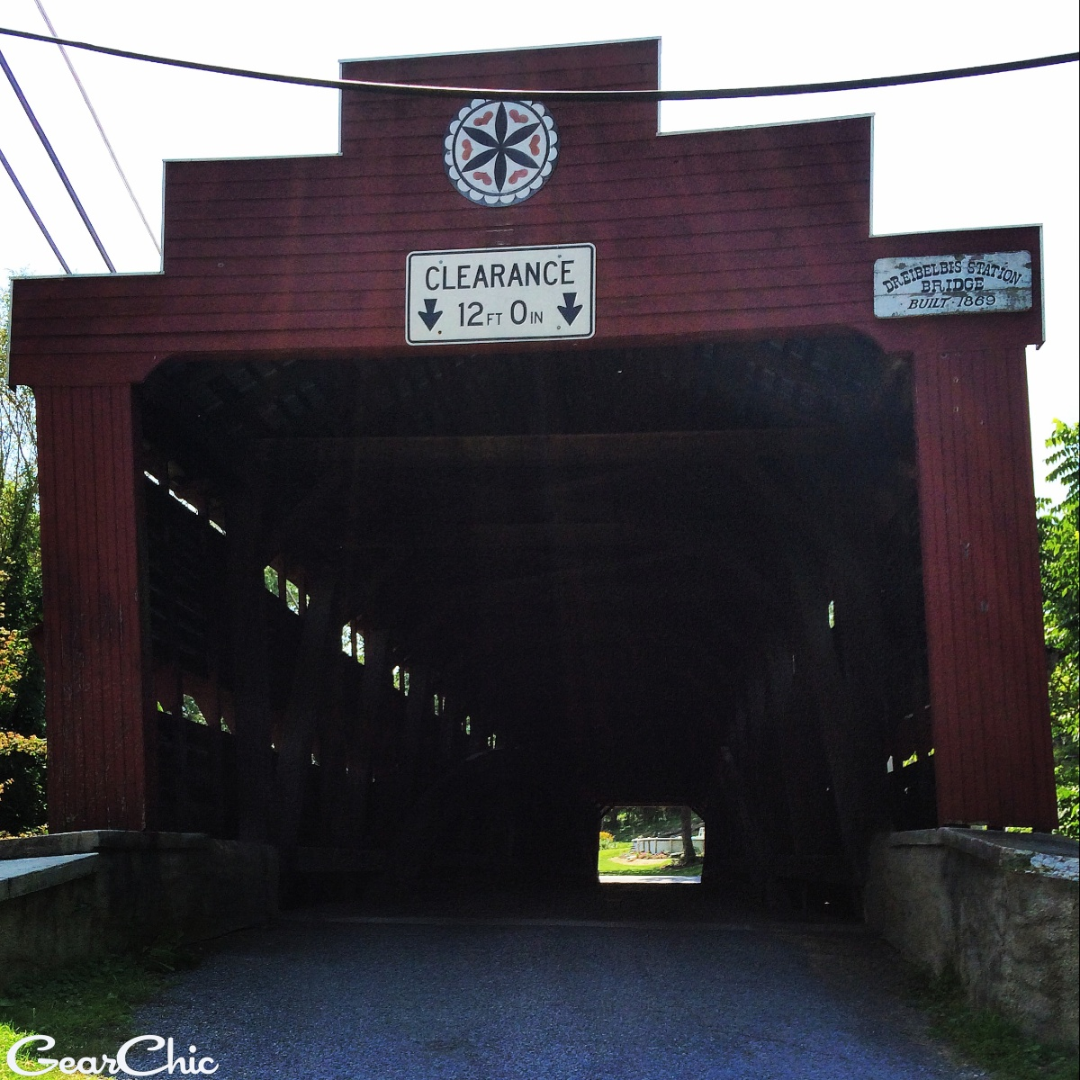 the covered bridge! built in 1896