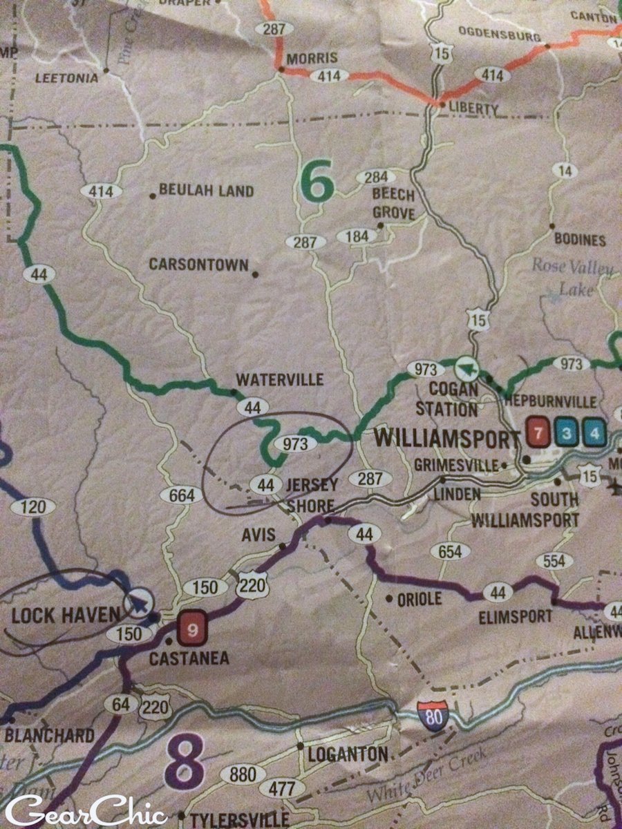 maps pennsylvania roads motorcycles