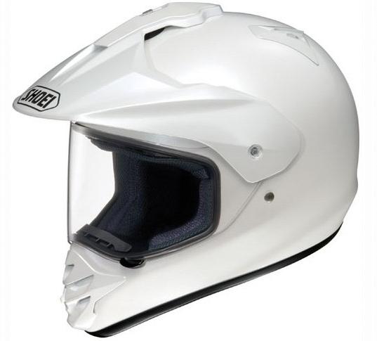 shoei helmet hornet ds crystal white xs xxs dual sport helmet