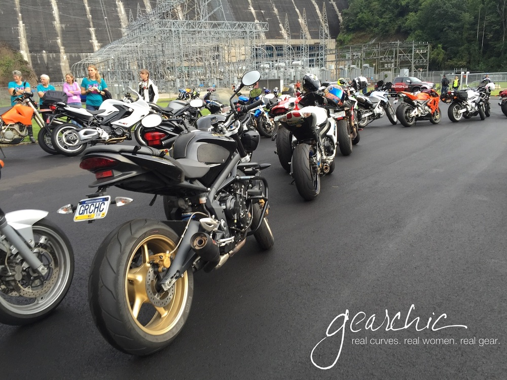 Hanging out with a bunch of sportbikes at the 2015 Rally, at Fontana Dam.