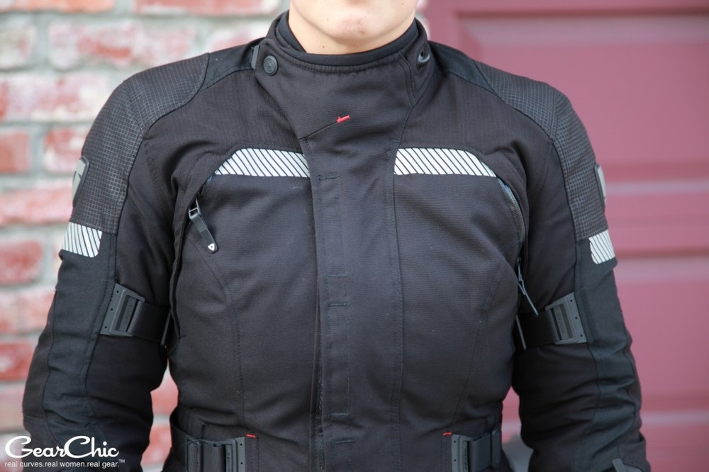 REVIT Legacy GTX Jacket, zipped up and ready to ride