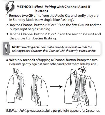 scala cardo g9 bump pairing