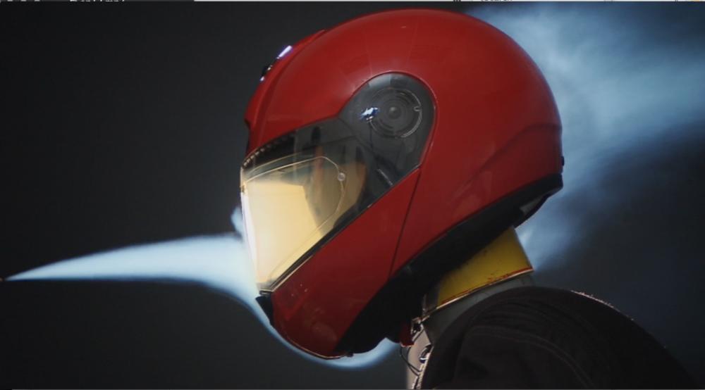 schuberth helmets testing modular wind