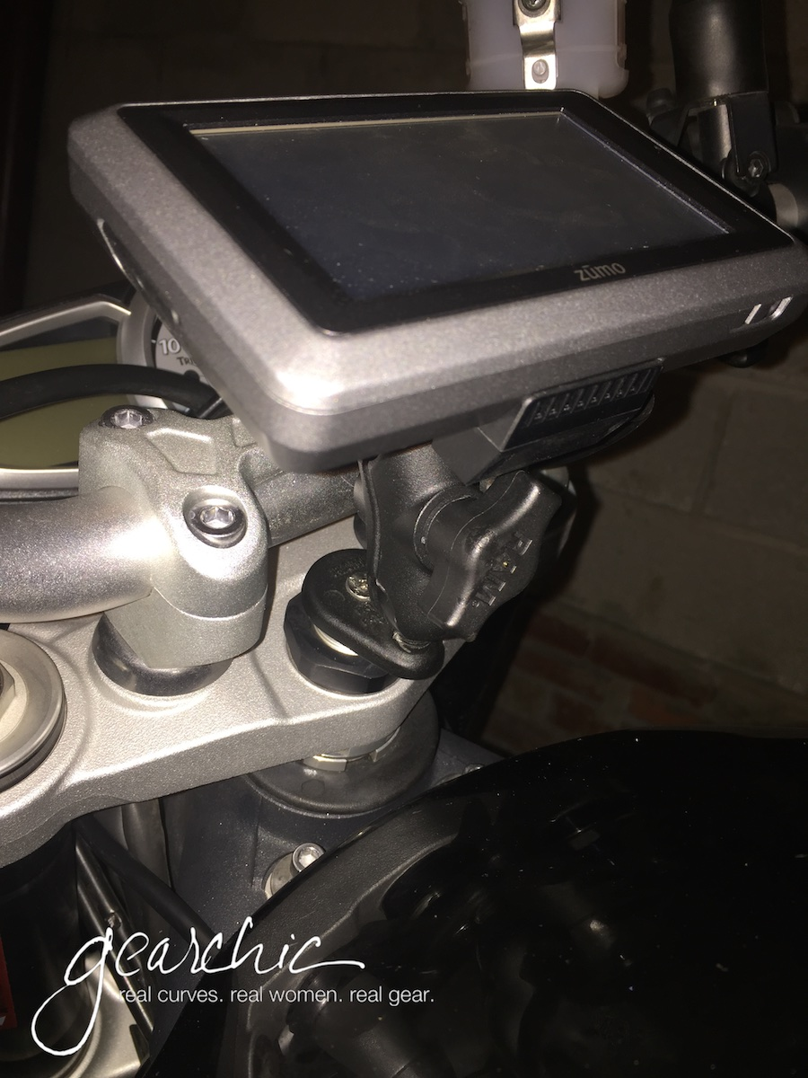 Photo of my old 660LM on the same Ram Mounts Fork Stem Mount.