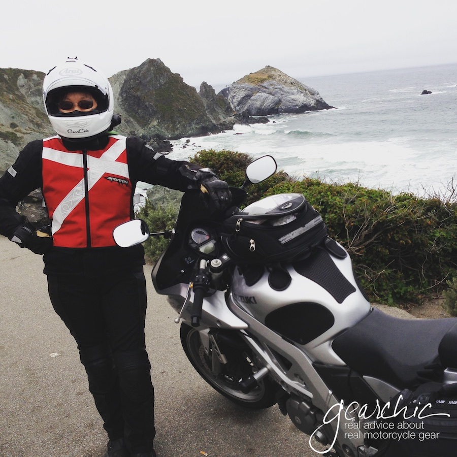 Riding down the California Coast back in 2013 wearing my original Red Spectrum Ultra Sport Blitz Vest. Who knew reflective vests could be so cool?
