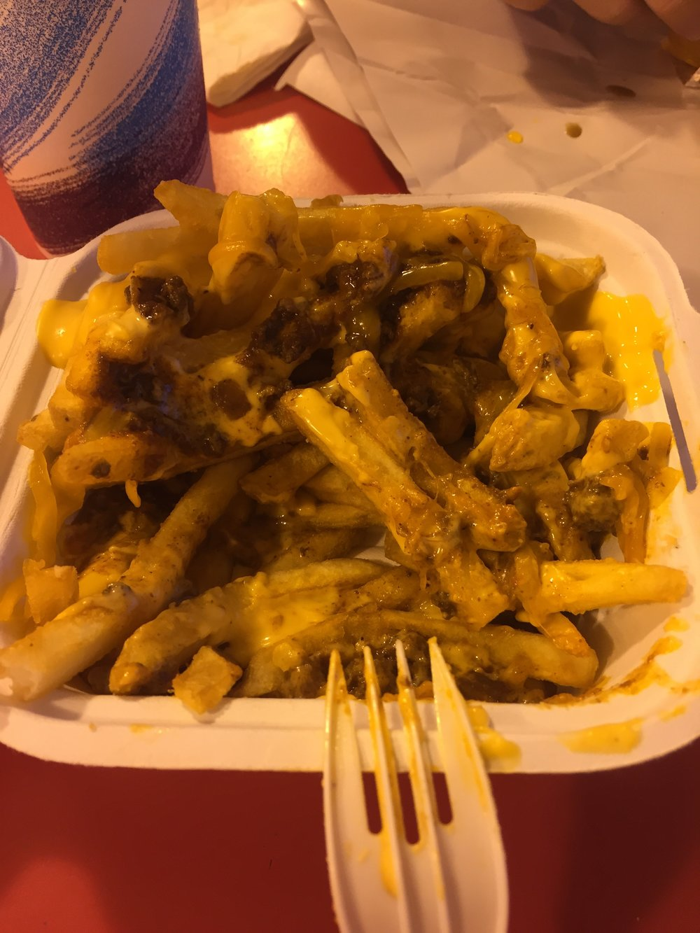 Chili Cheese Fries at  Tony Lukes . Their cheesesteaks are amazing too!