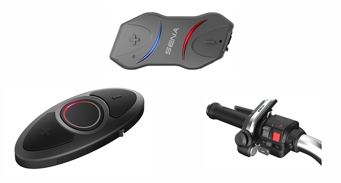 Sena 10R Headset and Handlebar Remotes