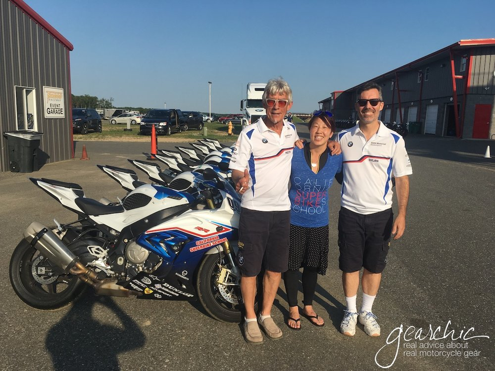 I Made a Code Sandwich! (Left to Right: Keith Code, Founder of California Superbike School - Me - Dylan Code, Son of the Founder of California Superbike School and Instructor)