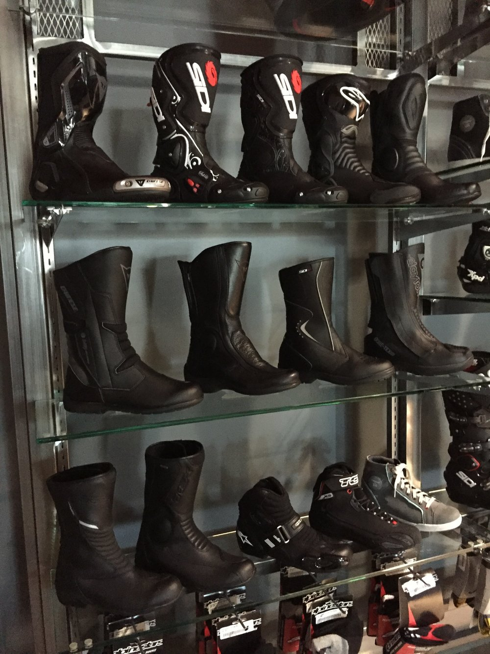 Women's Boot Wall at RevZilla