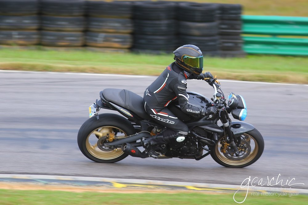 Wearing the Motegi V2 At VIRginia International Raceway in Alton, VA with  CLASS Rides Motorcycle School , October 2018. Photo: eTechPhoto
