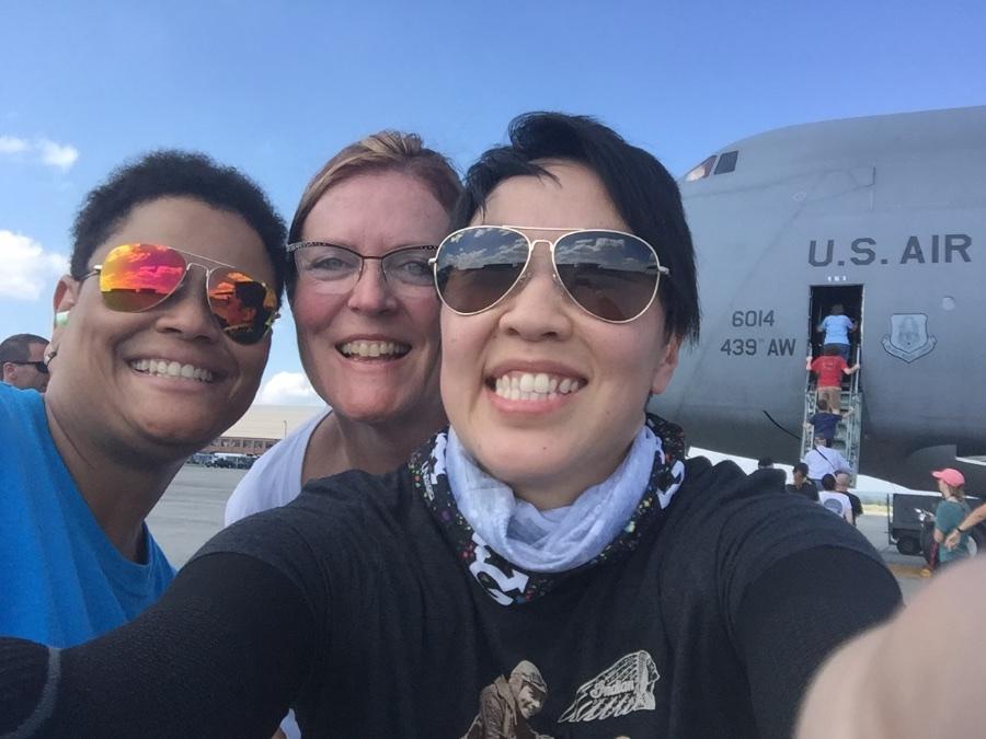 July 2016: Our friend Porsche (left), Alisa (center) and Me