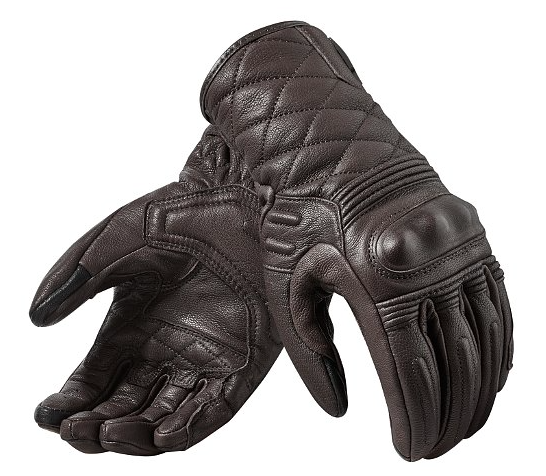 Semi-Shorties - Revit Monster 2 Women's GlovesThese cover your wrist bone but don't extend past it like the Gauntlets above. No mesh and minimal perforation for airflow. These are ideal to wear year round except in extreme temperatures (~40Fs or 90Fs). Also a great way to do a classic look with modern protection.