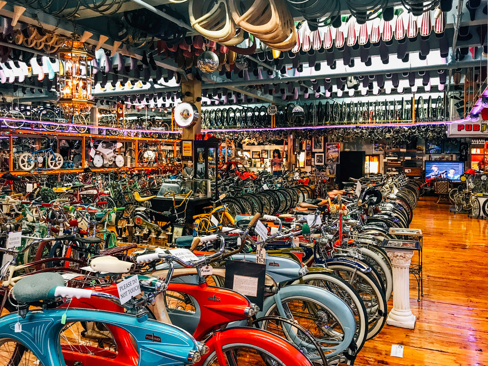 """Starting with one discarded bike that Craig found in the junk.  Doing repairs and selling used bikes and collecting vintage Antique and collectible bikes with over 3000 bikes scattered in garages through out the Bellevue area."""