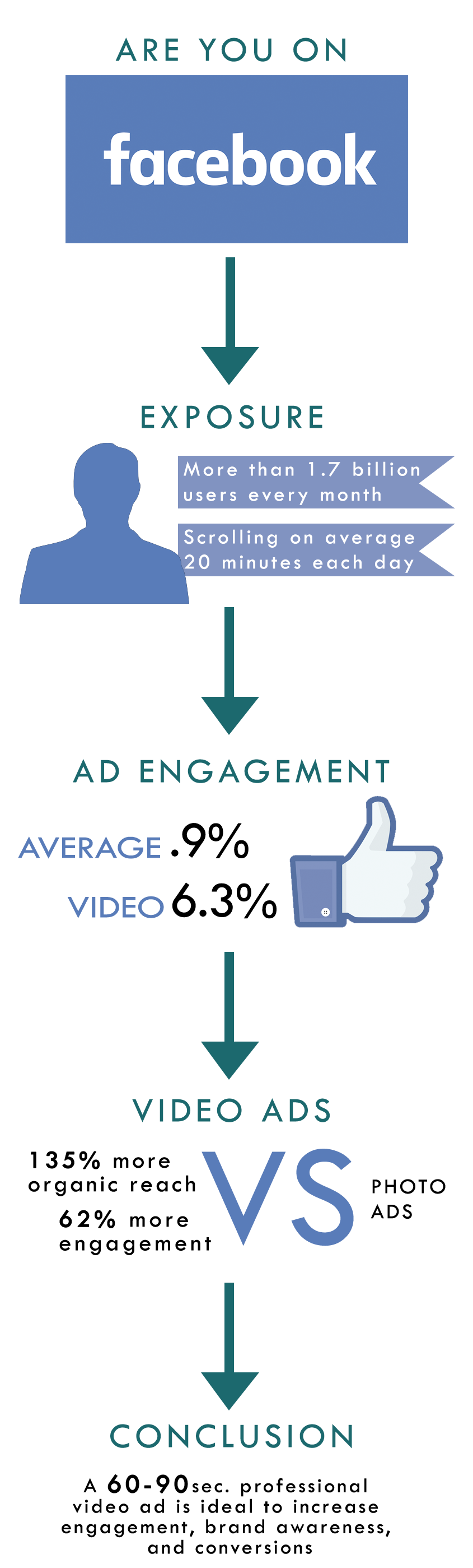 Infographic Facebook Video Ads