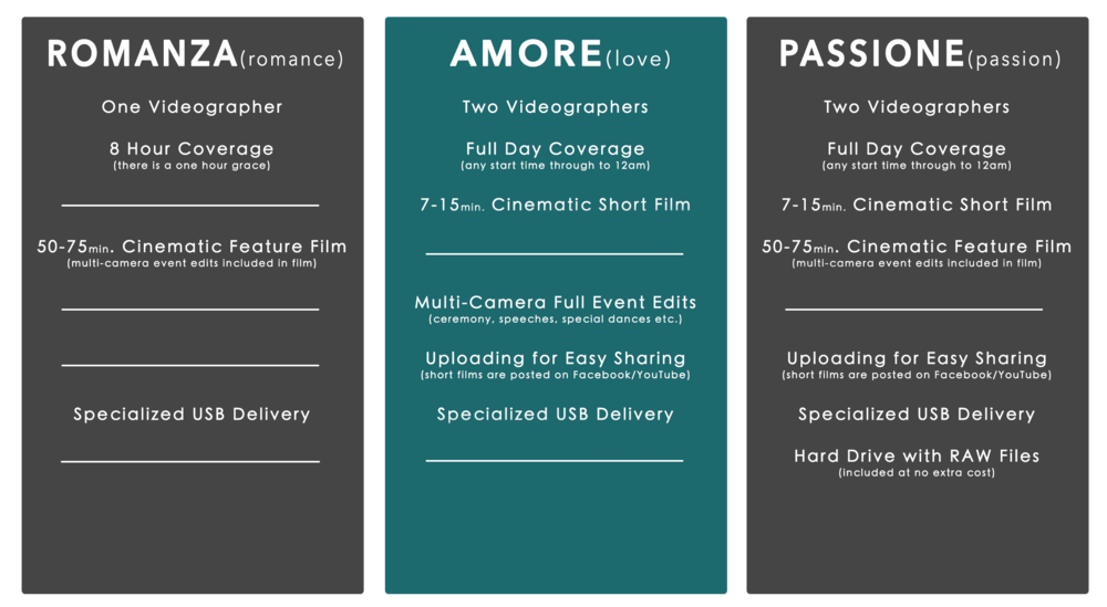 Wedding Videography Packages Toronto GTA and Ontario