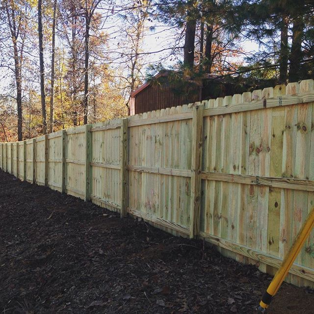 6ft wood privacy fence installed in Kuttawa, KY. #fall #fence #barkleylake #fenceline #wood #kentucky