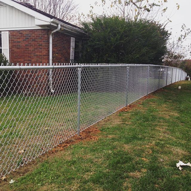 4ft tall, commercial grade, chainlink fence completed today in Princeton, KY! #fence #fenceit #chainlink #fenceline