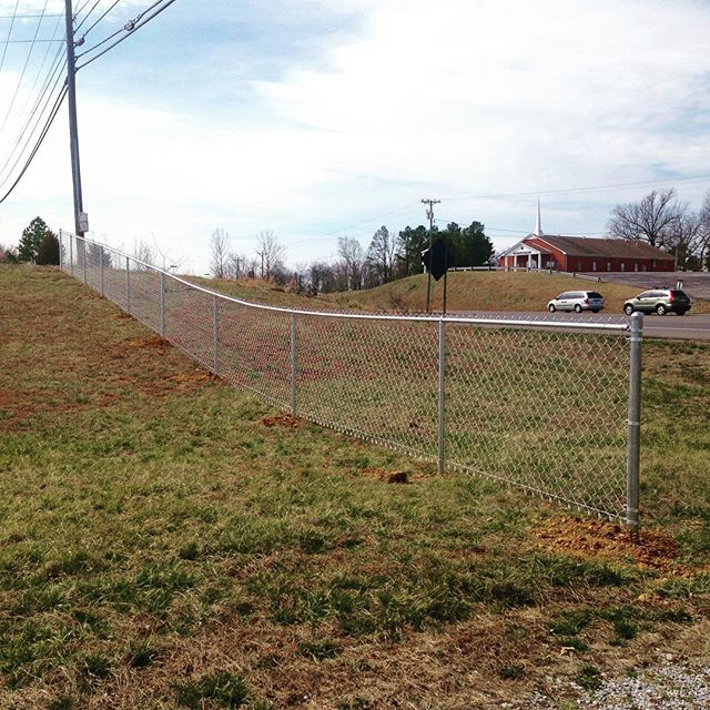 Completed a 4ft chainlink job today in Murray, KY! #fence #murraystate #fenceline #kentucky