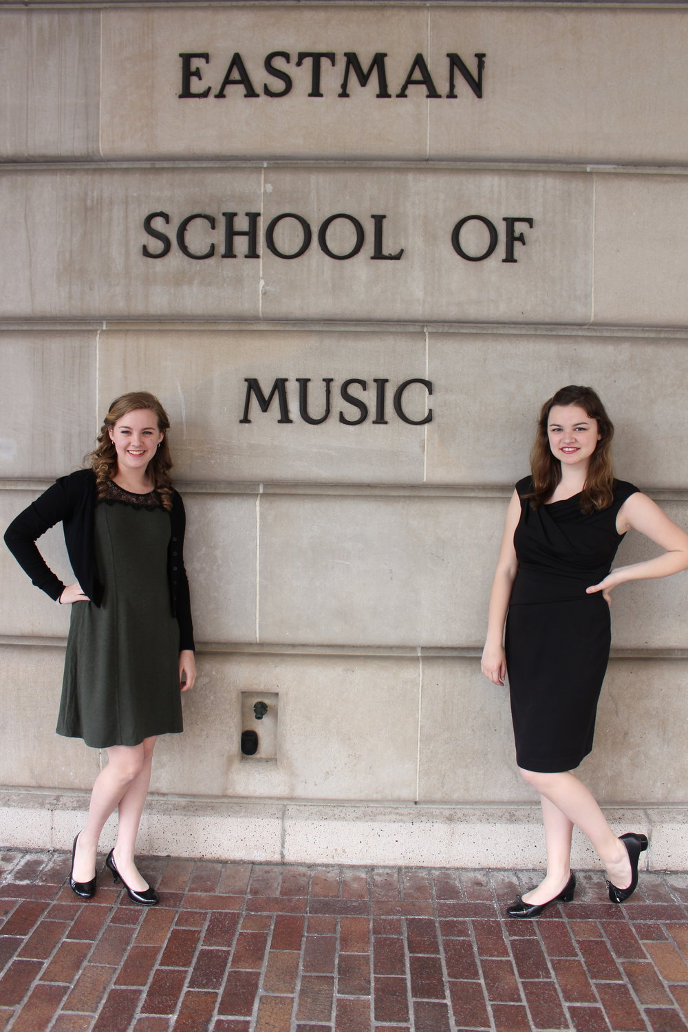 Here's a picture of me and one of my studio-mates/close friends after we finished our piano juries!
