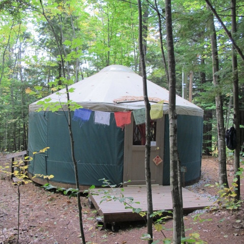 one of two private yurts (sleeps 2-3)