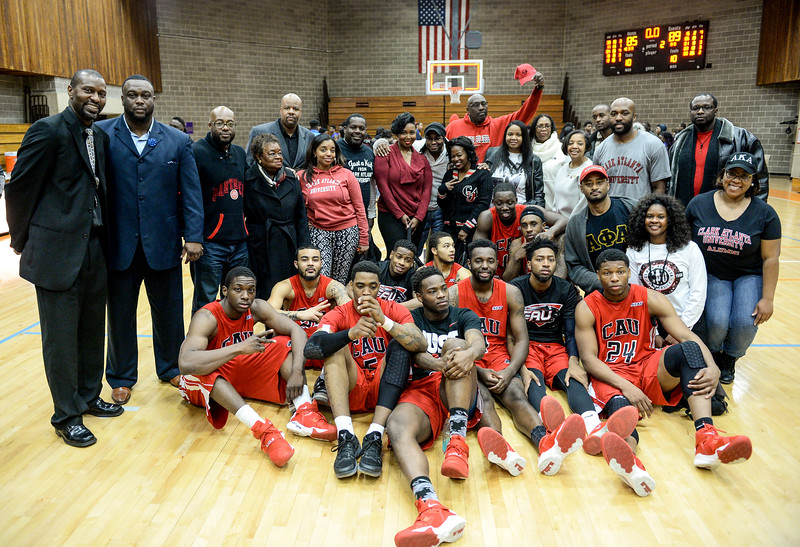 Clark Atlanta University Men's Basketball Team 1st Place Winners and Chicago Alumni Chapter after King Hardwood Classic Series 2016