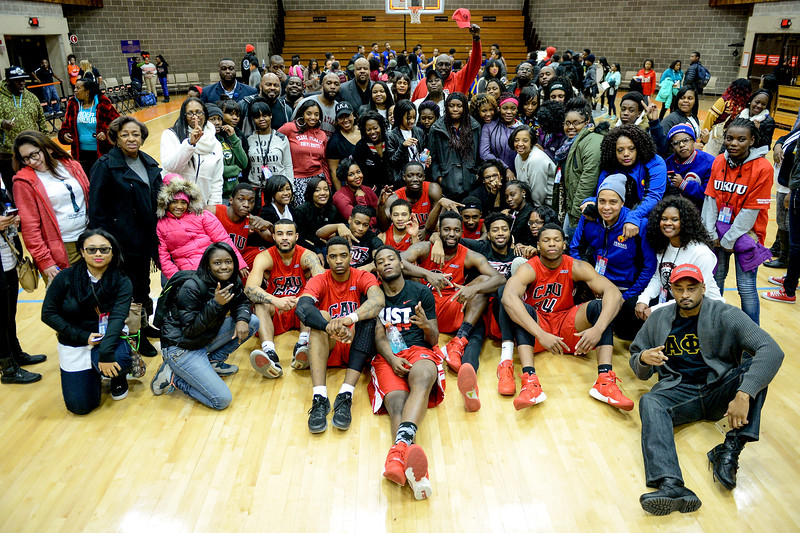 CAU Men's Basketball Team and Alumni