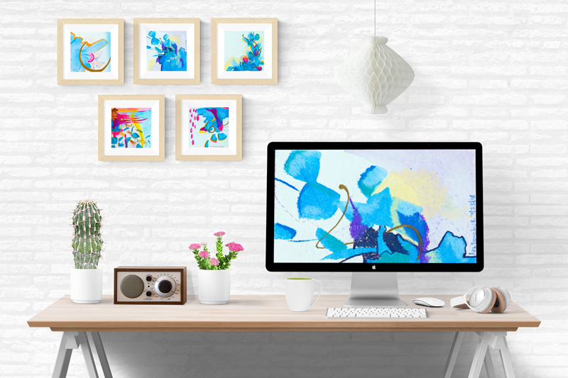 What if we did this together. - There is art work that hasn't been made available publicly yet and is ready to go to a fun home decor shop as an exclusive. Or what if we make one to fit your shop's summer collections? Could be cool…✨
