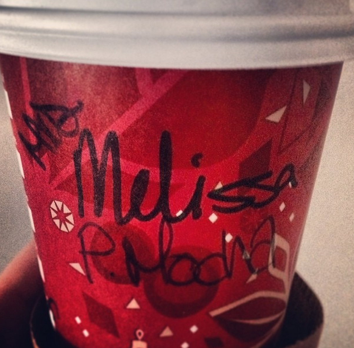 I recently married a peppermint mocha, come on, Starbucks...