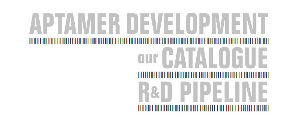 Aptamer catalogue R&D pipeline