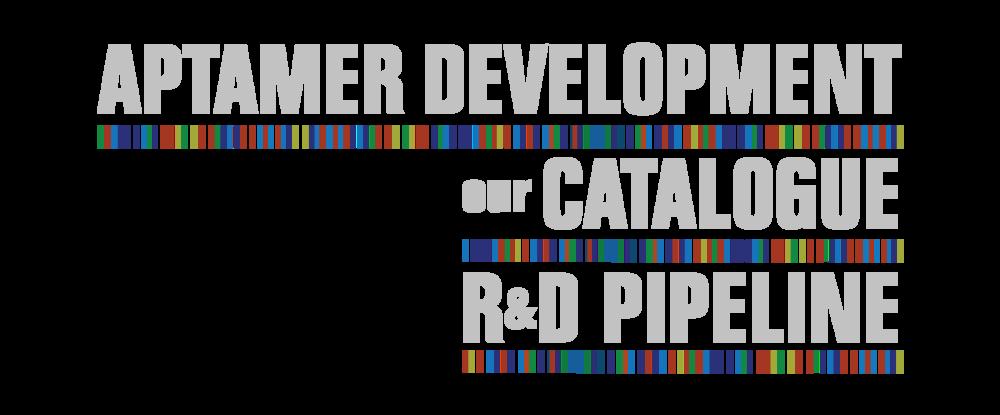 Aptamer catalogue R&D pipeline