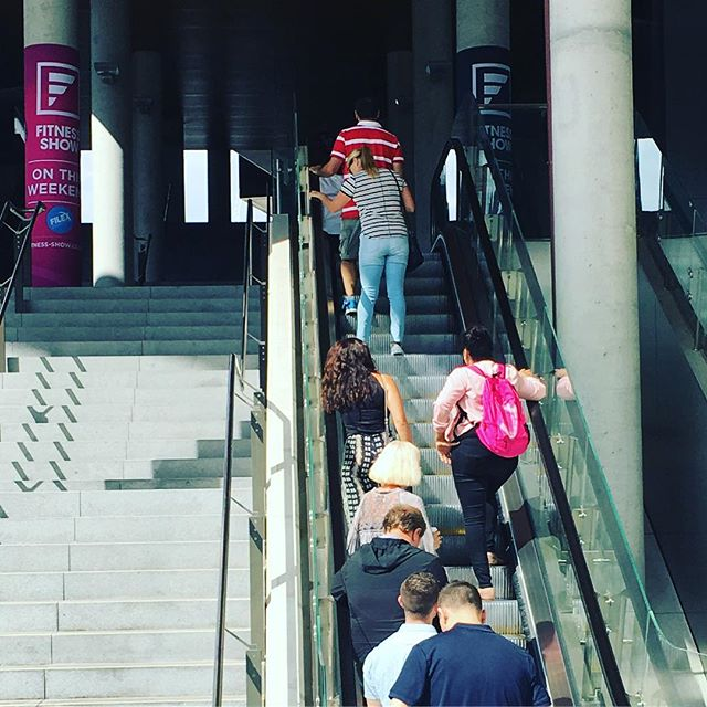 Nothing better than being at @filexconvention the fitness expo where the best in exercise physiology come together to discuss the latest in health.......and take the escalators up to level 1.  #inspire #motivating #fitnessmotivation #health #goandgetfit